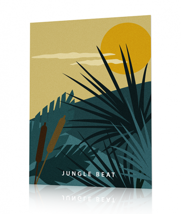 Tropical poster Blue