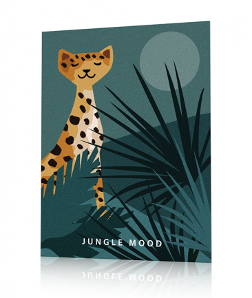 Poster tropical jungle léopard