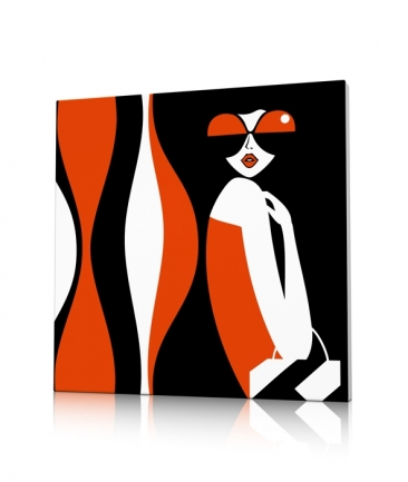 Tableau deco design orange