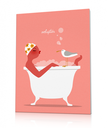 Bathroom art prints Pink