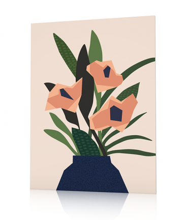 Abstract pink Flowers poster