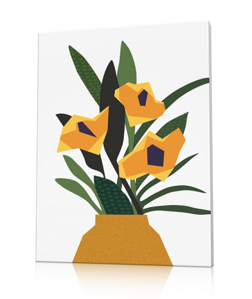 Cubism Flowers art Green Therapy