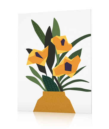 Modern Flowers poster Green Therapy