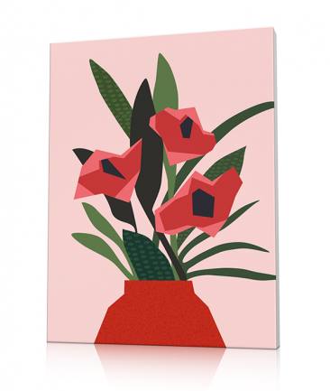Modern Flowers art canvas Green Therapy