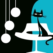 Tableau chat moderne Something For Cat