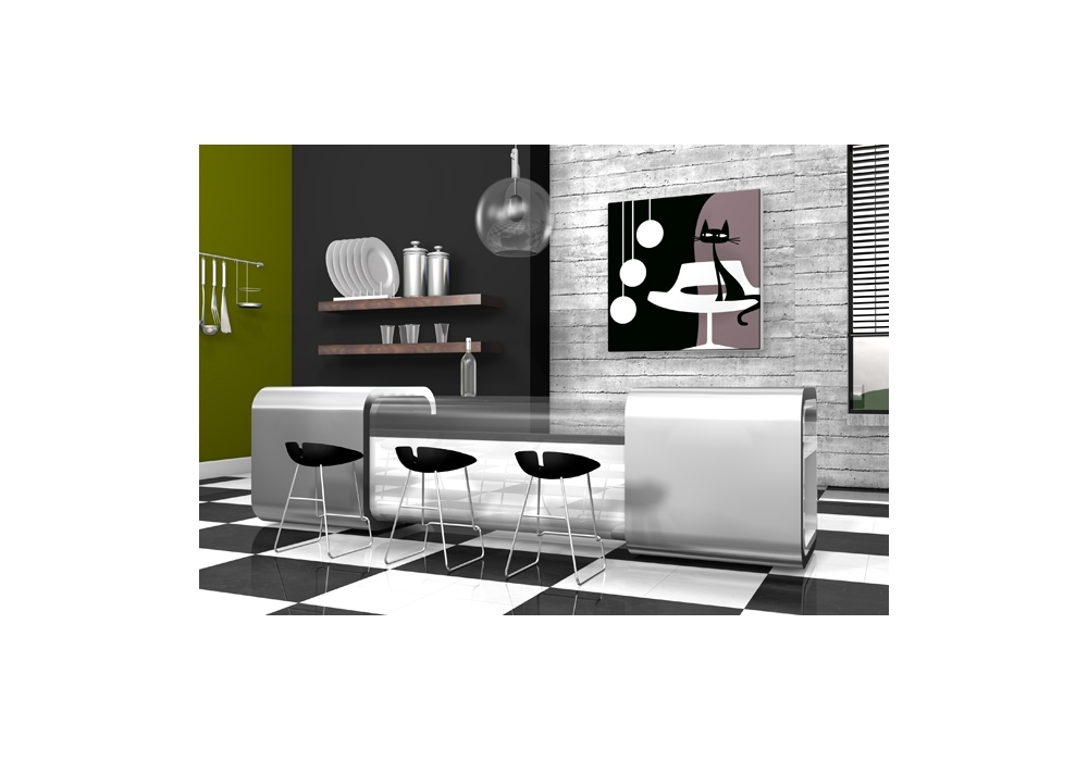 tableau chat noir d co moderne something for cat qorashai. Black Bedroom Furniture Sets. Home Design Ideas