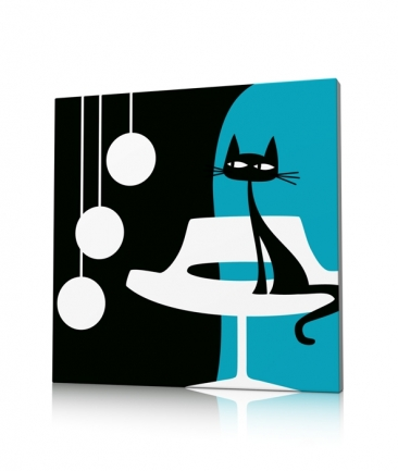 Déco murale moderne chat Something For Cat