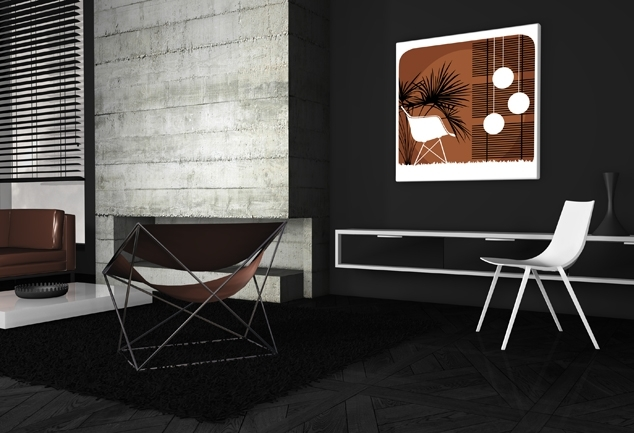 Tableau salon moderne marron Na Sua Casa