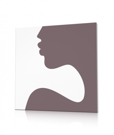 Tableau silhouette femme taupe